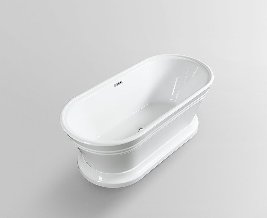 "Freestanding Soaking Bathtub Acrylic 67"" Complete KIT with freestanding Faucet"