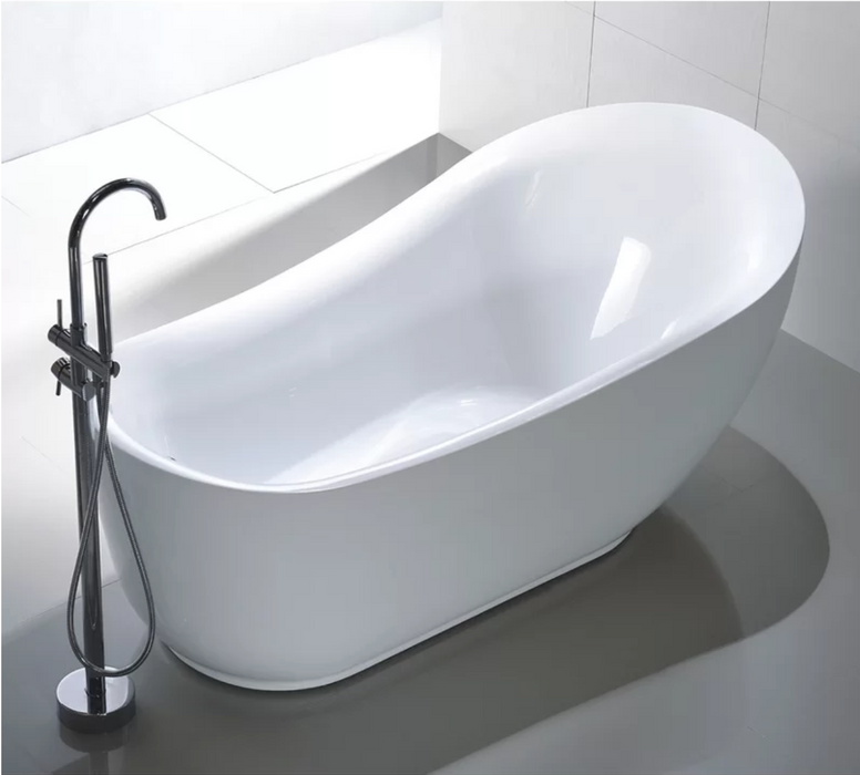 "Freestanding Soaking Bathtub Acrylic 71"" Complete KIT with freestanding Faucet"