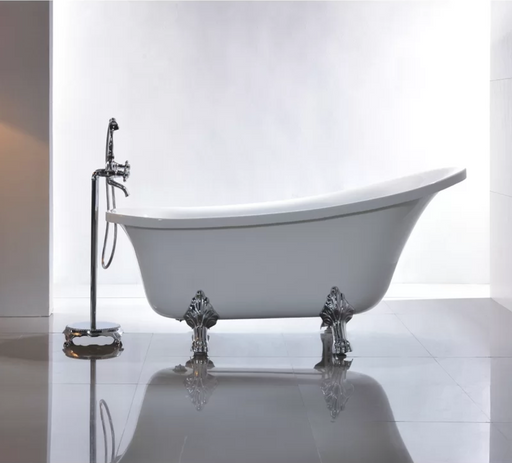 Freestanding Clawfoot Bathtub Acrylic 67""