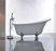"Freestanding Clawfoot Bathtub Acrylic 67"" Complete KIT with freestanding Faucet"