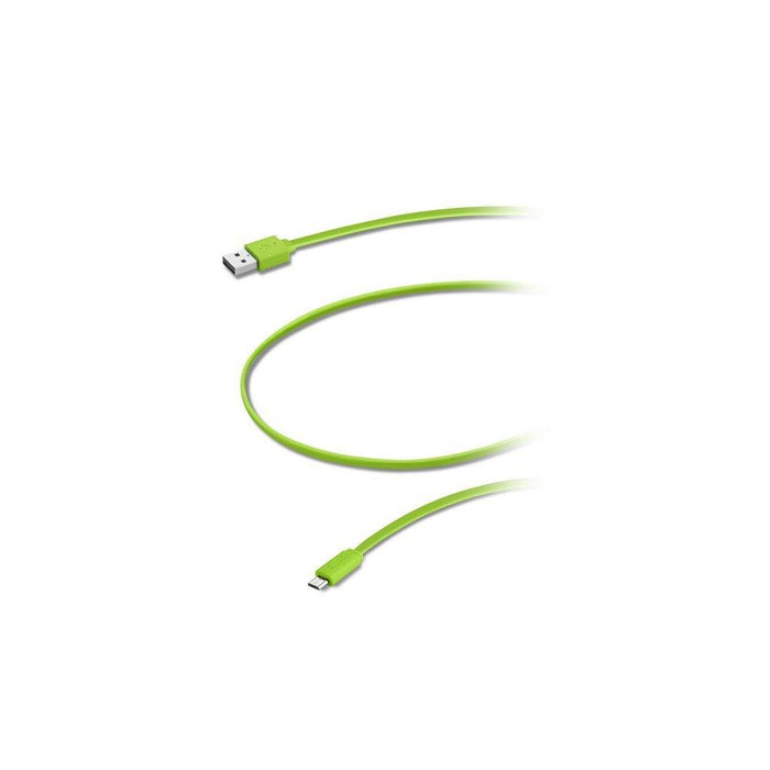 Aiino 1.5 m Samsung Micro USB to USB Flat Cable - Green