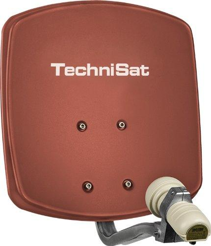 Technisat Digidish 33 Satellite Dish 33cm with Mounting and Single LNB - Red