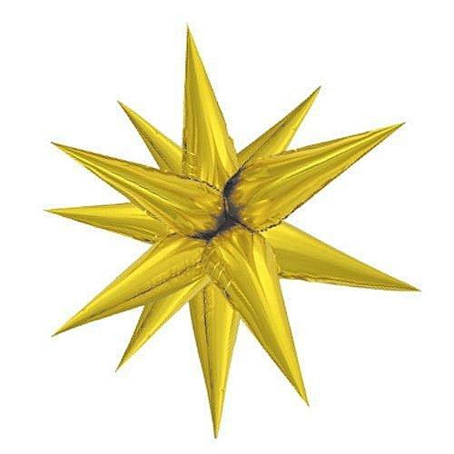 "40"" Giant Foil 12 Point Gold Star Balloon"