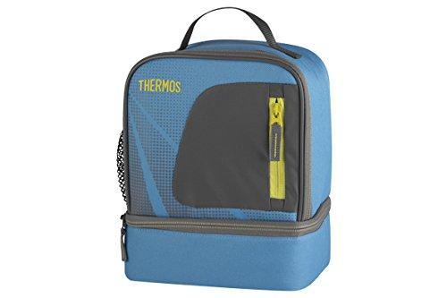 148976 Thermos Radiance Dual Compartment Lunch Kit with Lunch Fabric TURQUOISE