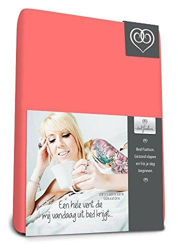 Bed-Fashion Fitted Sheet, Jersey, Vanilla, King, 180 x 220 cm