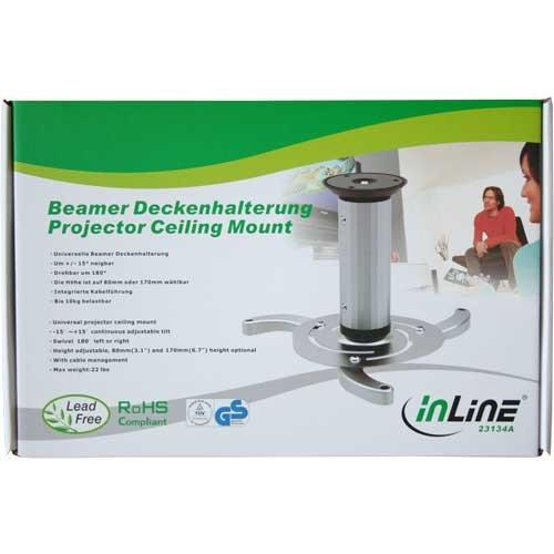 InLine 23134 A Ceiling Bracket for Projector (Max. 10 kg)
