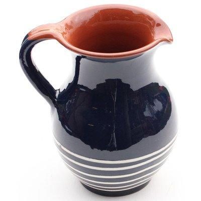 Amazing Cookware 22 cm Terracotta Traditional Jug with Cream Swirl, Blue