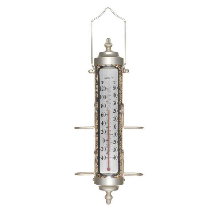 Conant BFT26SN Bird Feeder/Thermometer - Nickel