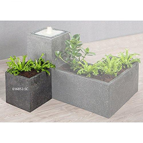 Heissner 016852-SC Plantana Cube Planter - Black with White Fleck