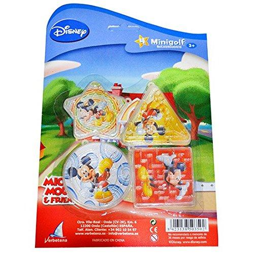 Mickey Mouse - Blister Pack with 4 mini golf (verbetena 014000478)