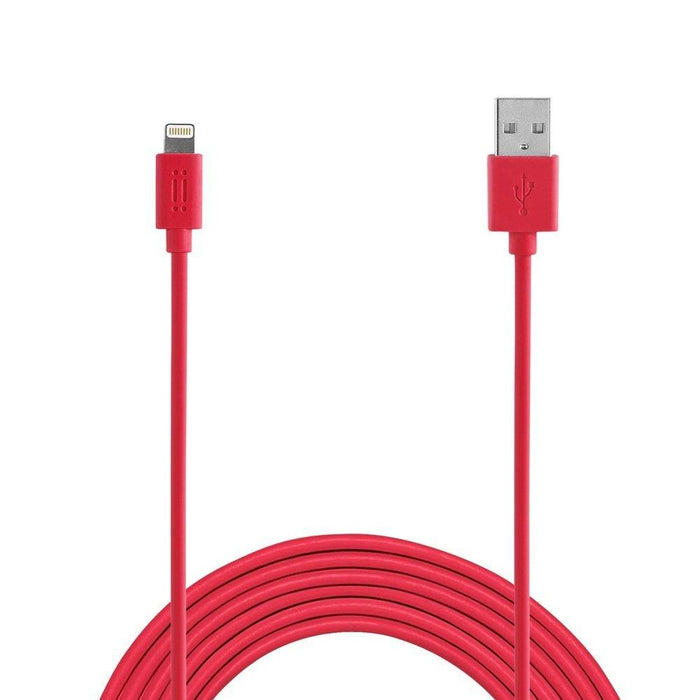 Aiino 1.2 m Apple MFI Lightning Charge and Sync Cable - Red