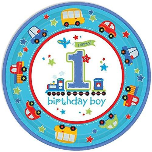 All Aboard First Birthday Paper Plates