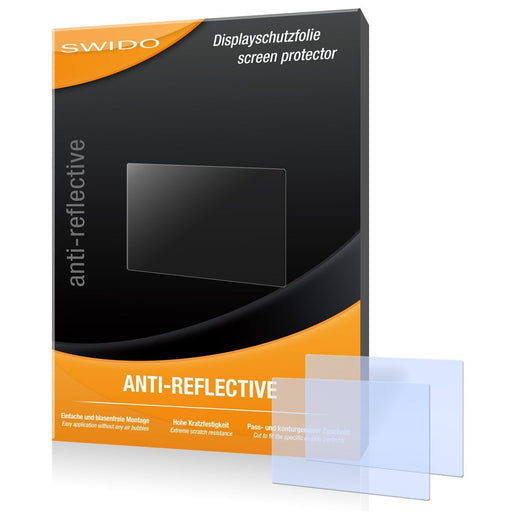 2 x SWIDO Anti-Reflective Screen Protector for Samsung WB50F / WB-50F / WB-50 F - PREMIUM QUALITY (non-reflecting, hard-coated, bubble free application)