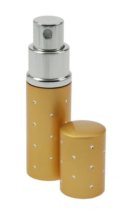 Fantasia 46162 Pocket Sprayer for 10 ml with Silver Detailing, Height 9 cm, Silver, Gold