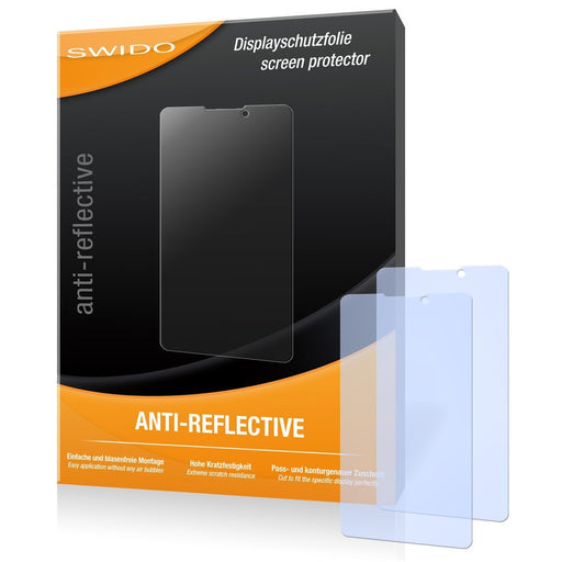 2 x SWIDO Anti-Reflective Screen Protector for Prestigio Multiphone 4505 Duo - PREMIUM QUALITY (non-reflecting, hard-coated, bubble free application)
