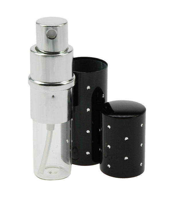 Fantasia 46164 Pocket Sprayer for 10 ml with Silver Dots Height 9 cm Black
