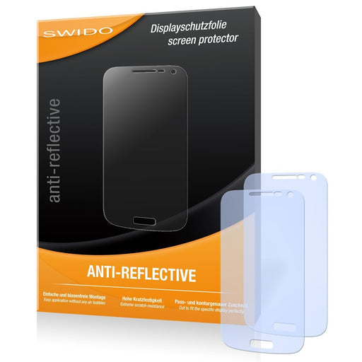 2 x SWIDO Anti-Reflective Screen Protector for Samsung Galaxy S4 Mini Duos / S-4 Mini Duos - PREMIUM QUALITY (non-reflecting, hard-coated, bubble free application)
