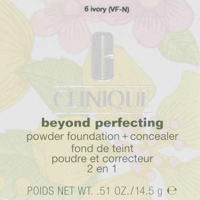 Clinique Foundation, Beyond Perfecting Powder Foundation, 14.5 GR, 06-ivory