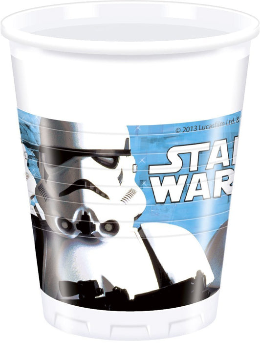 200ml Star Wars Plastic Cups, Pack of 8