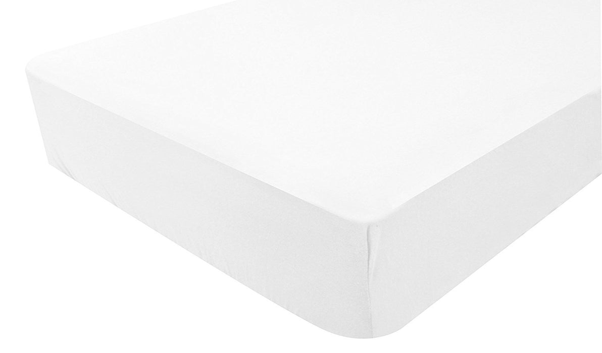 2 in 1 PMP Waterproof Fitted Sheet 70 x 140 cm White