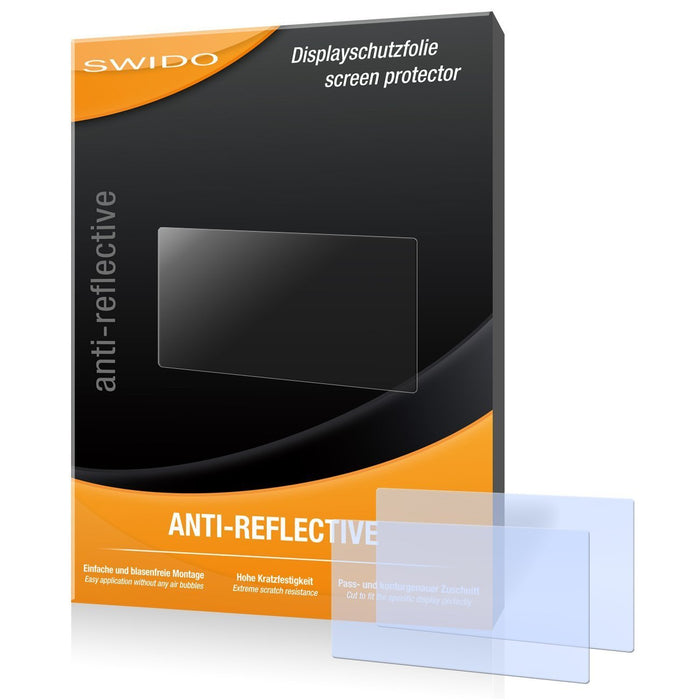 2 x SWIDO Anti-Reflective Screen Protector for Sony ILCE-3000K / 3000-K - PREMIUM QUALITY (non-reflecting, hard-coated, bubble free application)
