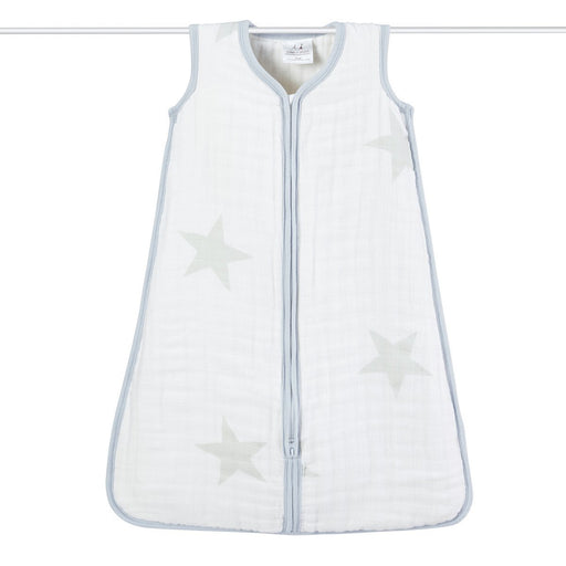 aden + anais Twinkle Cozy Sleeping Bag with Stars (Large, Grey)