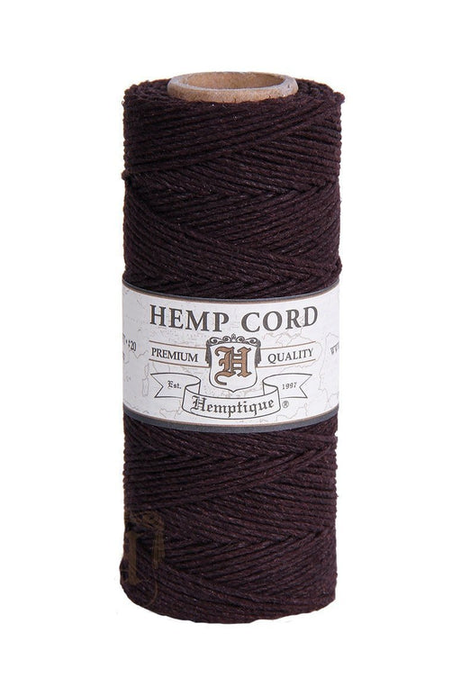 Hemptique Hemp Cord Spool Chocolate Brown