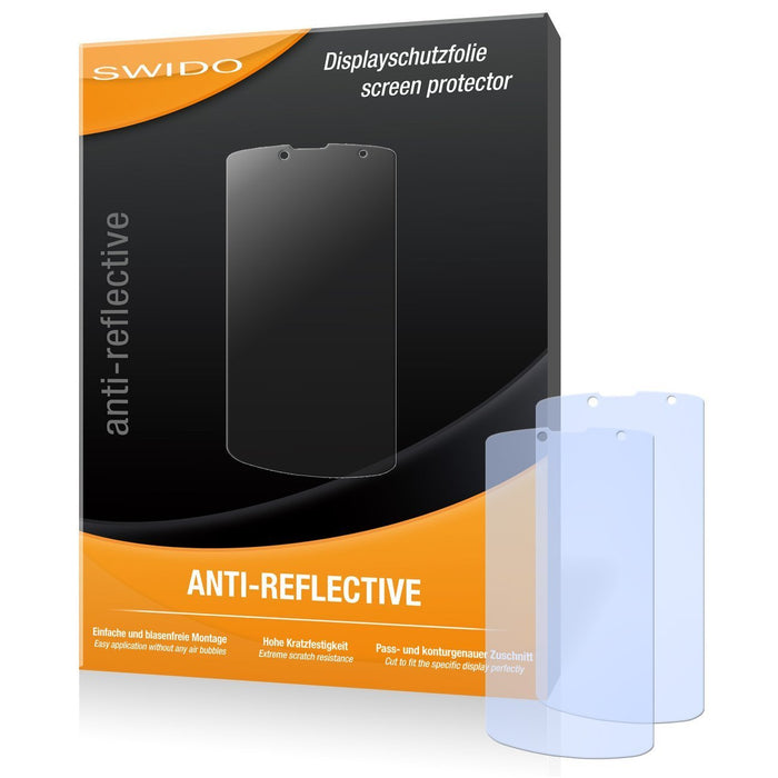 2 x SWIDO Anti-Reflective Screen Protector for Prestigio MultiPhone 7500 - PREMIUM QUALITY (non-reflecting, hard-coated, bubble free application)