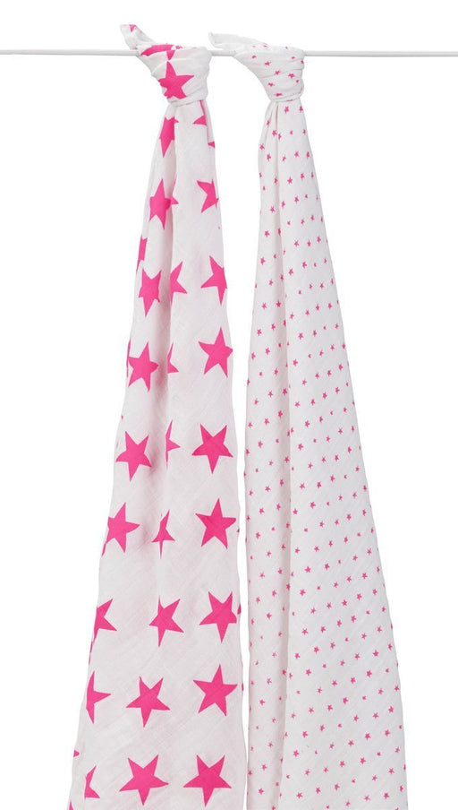 aden + anais Classic Swaddle (Fluro-Pink, Pack of 2)
