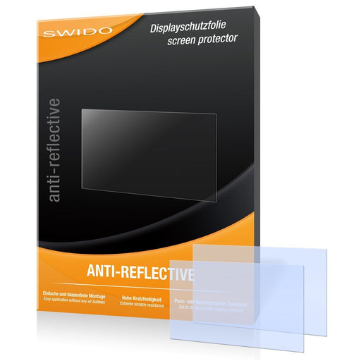 2 x SWIDO Anti-Reflective Screen Protector for Panasonic Lumix DMC-GM1K / GM-1K - PREMIUM QUALITY (non-reflecting, hard-coated, bubble free application)