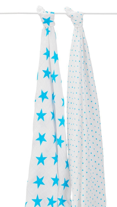 aden + anais Classic Swaddle (Fluro-Blue, Pack of 2)
