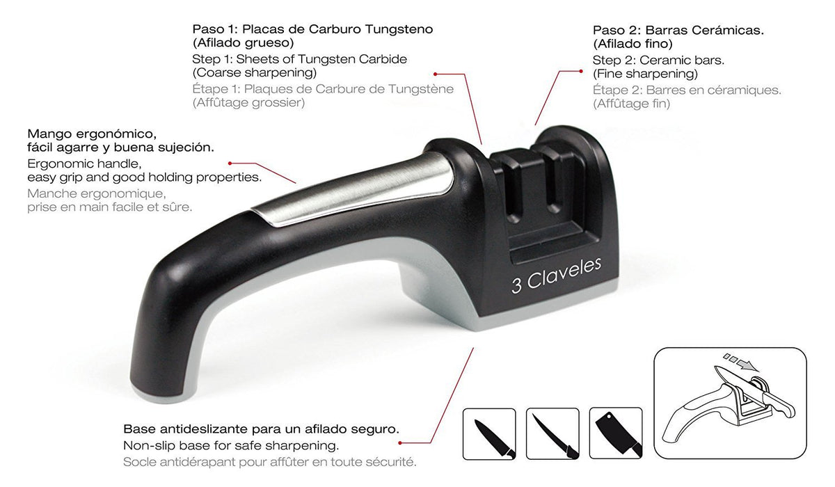 3 Claveles 9408 - Knife sharpener, 20.32 cm