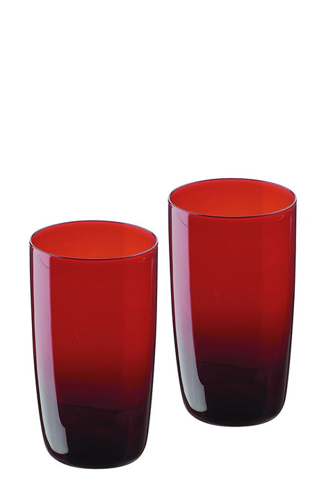 Artland Midnight Hiball Glass, Set of 2, Red