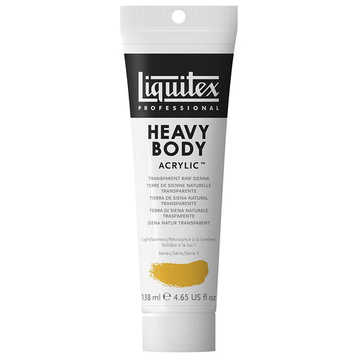1047332 Liquitex Professional Heavy Body Acrylic Paint 138 ml tube, siena Natural, transparent
