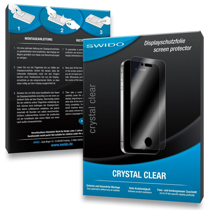 3 x SWIDO Crystal Clear Screen Protector for Fujifilm Finepix XP70 / XP-70 - PREMIUM QUALITY (crystalclear, hard-coated, bubble free application)