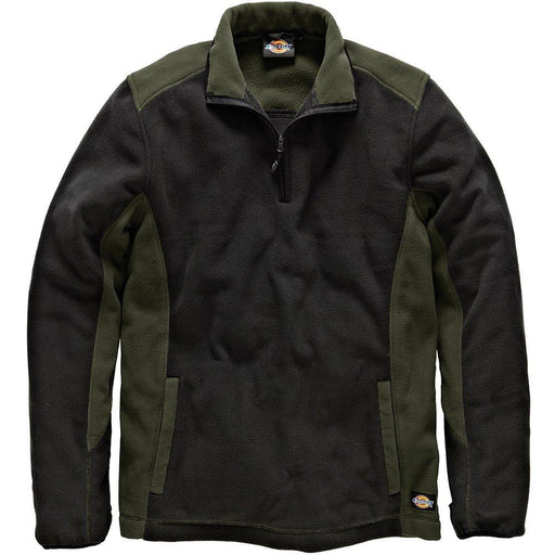 Dickies JW7011 OGBXXL Size 2X-Large Fleece Pullover - Olive Green/Black