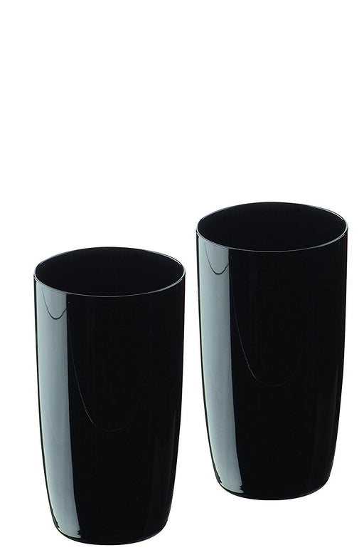 Artland Midnight Hiball Glass, Set of 2, Black