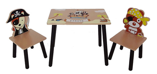 Bebe Style Children's Pirate Themed Wooden Table and Chair Set