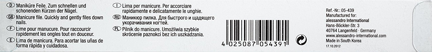 alessandro NailSpa Nail Files 100/100, Pack of 1
