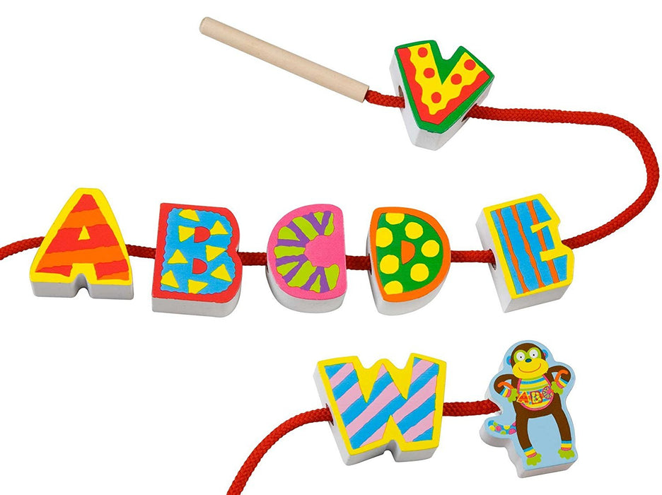 Alex Toys Early Learning String My ABC'S Little Hands