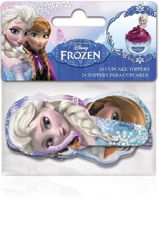 24 Paper Cupcake Toppers - FROZEN