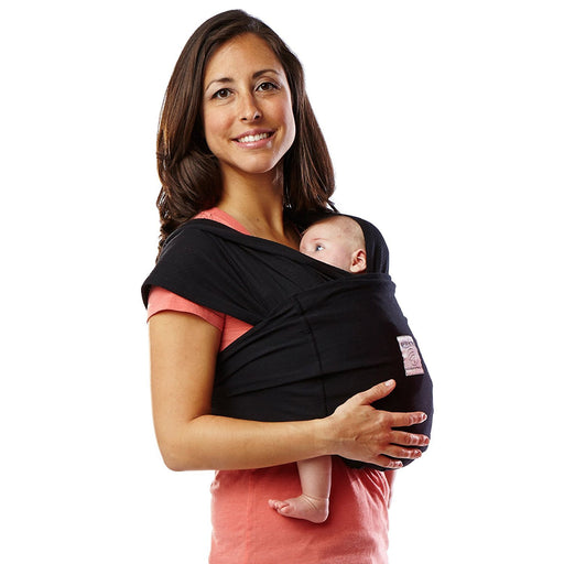 Baby K'Tan Baby Cotton Carrier (Large, Black)