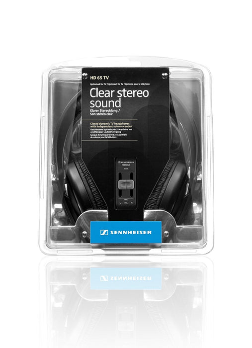 Sennheiser HD 65 Closed Dynamic TV Headphone with Independent Volume Control