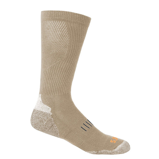5.11 Tactical Otc Year Round Socks Beige Coyote Size:FR : chaussettes : 43-46 (Taille Fabricant : L/XL)