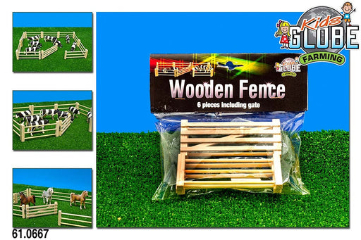 Kids Globe 610667 Fence 1: 32 Scale - suitable for Siku (6 Pieces)