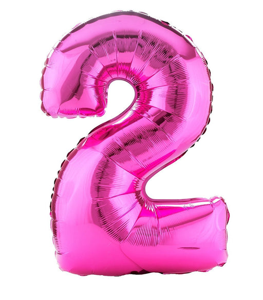 Amscan 21/ 53 x 35/ 88 cm Number 2 Super Shape Foil Balloon, Pink