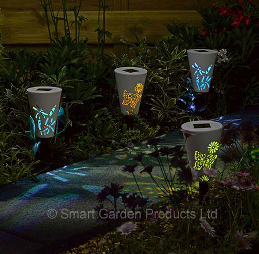 Butterfly Silhouette Stake Lights