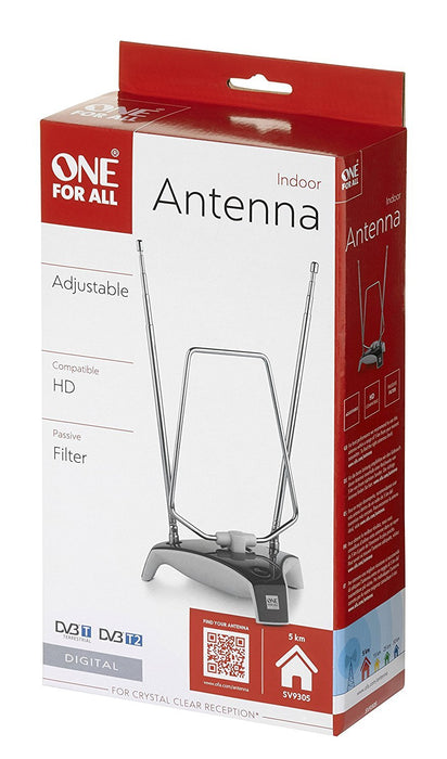 One For All SV9305 Indoor Non Amplified DVBT Antenna