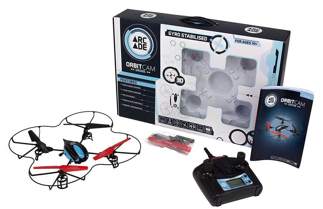 Arcade Orbit CAM Long Range Acrobatic 2.4G 4 Channel UAV RC Aerial Quadcopter Drone with Built-In Camera - Black