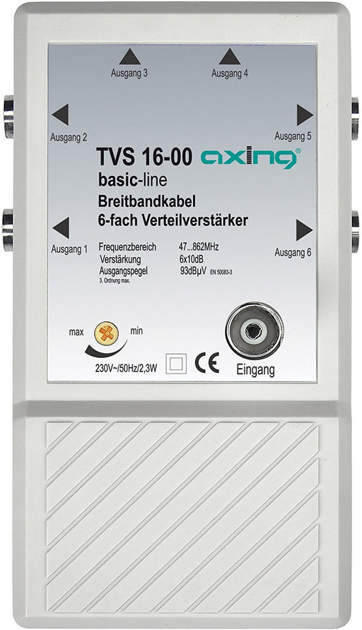 Axing TVS 16-00 6x Distributor Amplifier for Small CATV and Terrestrial Networks